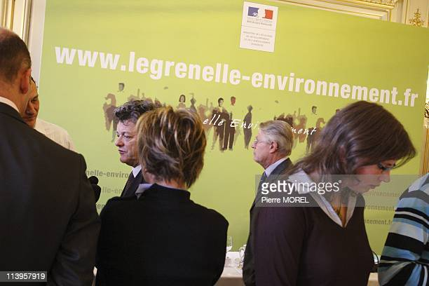 Signing of Charter for a publicity environmentally responsible In Paris France On April 11 2008Minister for Ecology Energy and Sustainable Planning...