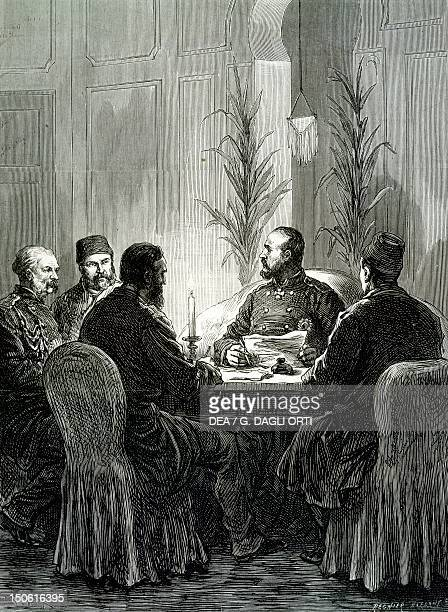 Signing of the armistice of Adrianople March 1878 RussoTurkish War Bulgaria 19th century