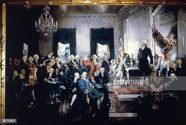 Signing of the Constitution of the USA