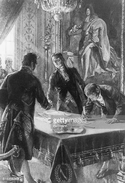 Signing of the Louisiana Purchase by Marbois Livingstone Monroe