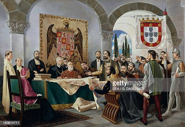 Signing of the Treaty of Tordesillas between Spain and Portugal June 7 1494 Spain 15th century