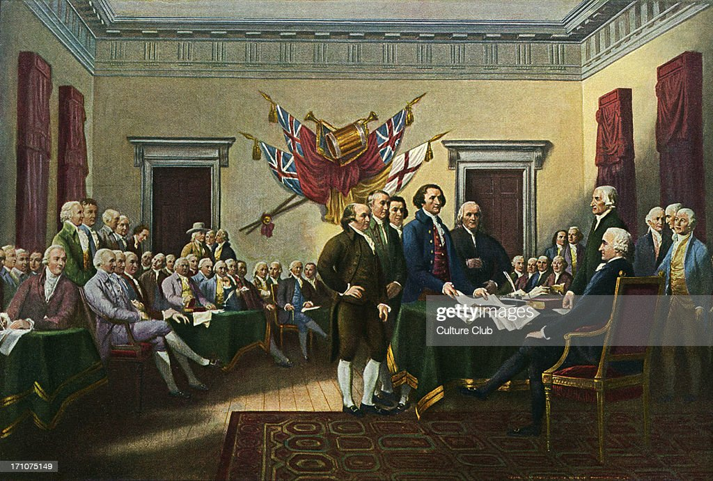 Declaration of Independence - : News Photo