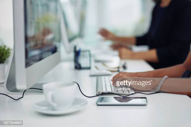 signing up some new clients to the system - input device stock photos and pictures