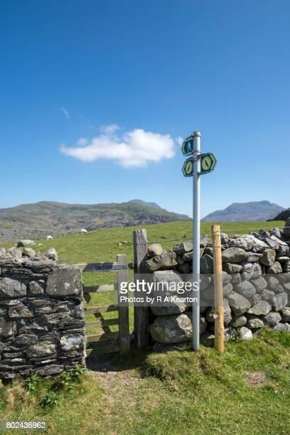 Signpost for the Ardudwy way, Llanbedr, Snowdonia
