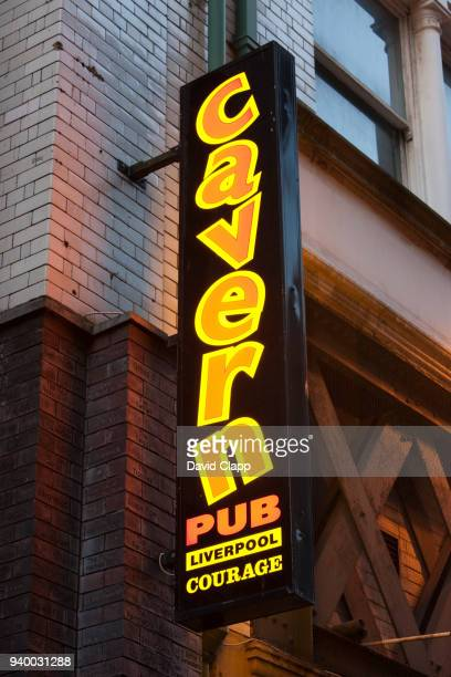signpost for the cavern pub in liverpool - vaudeville stock pictures, royalty-free photos & images
