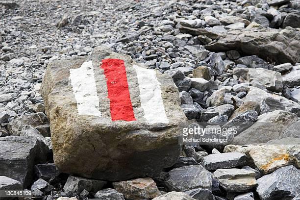 Signpost in the Swiss Alps, Switzerland