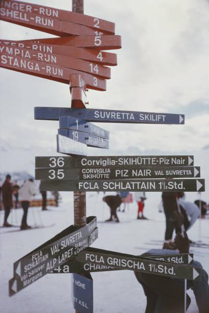 Signpost In St. Moritz
