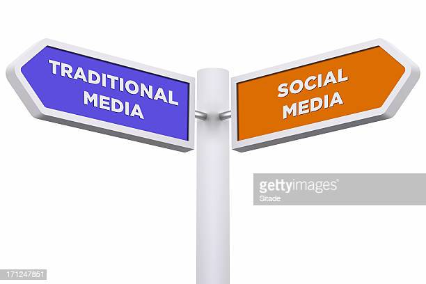 Signpost With Clipping Path
