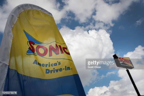 Food is served at a Sonic restaurant on September 25 2018 in Cicero Illinois Inspire Brands Inc the parent company of Arby's and Buffalo Wild Wings...
