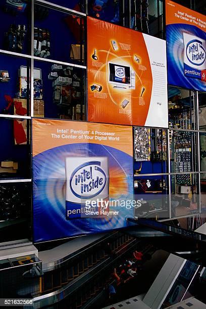 Signs Advertising Intel's Pentium 4 Processor