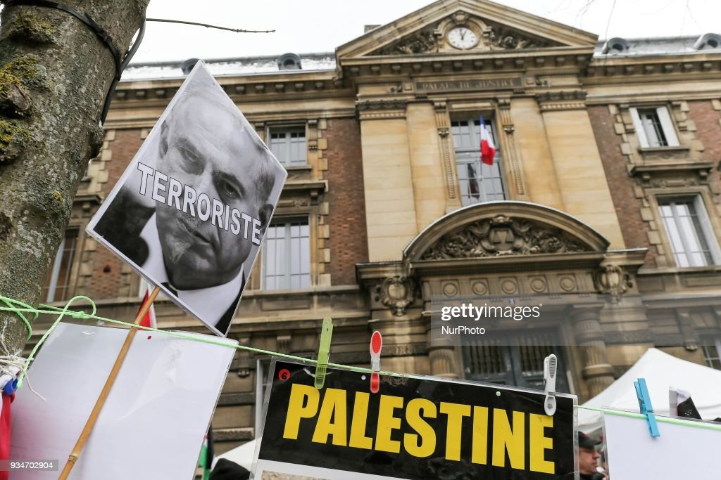 Demonstration in support of Palestine in Versailles