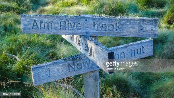 Signs along The Overland Track