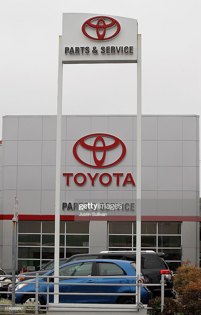 San Francisco Toyota Service >> Signs Are Displayed Outside Of The San Francisco Toyota