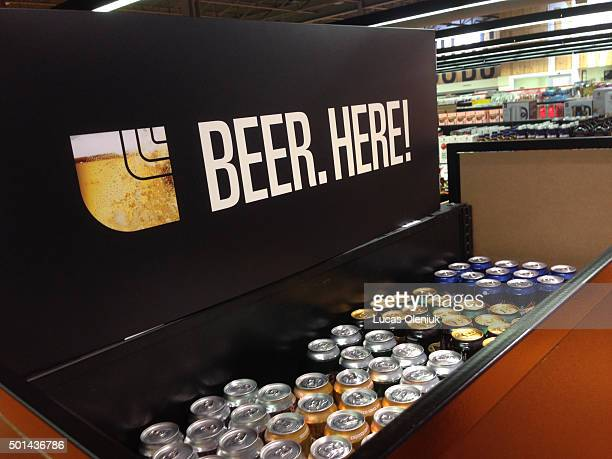 Signs are posted for beer sales in the Loblaw store at Lakeshore and Leslie