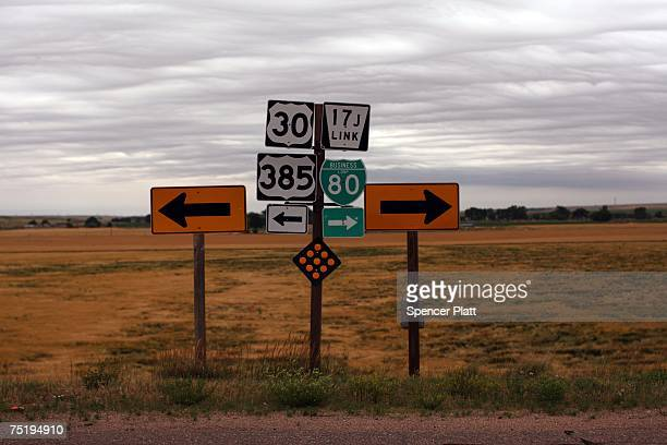 Signs direct drivers June 27 2007 in Sidney Nebraska When rural America was chronicled 50 years ago by Jack Kerouac in his autobiographical novel 'On...