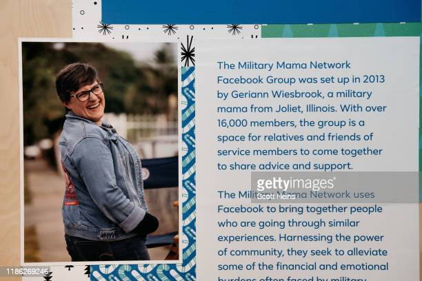 Signs encourage visitors to donate at the Facebook Holiday PopUp in SoHo Manhattan on December 3 2019 in New York City This holiday season Facebook...
