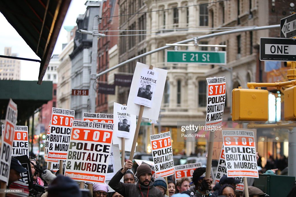 Signs fill broadway stop mass incarcerations network pictures