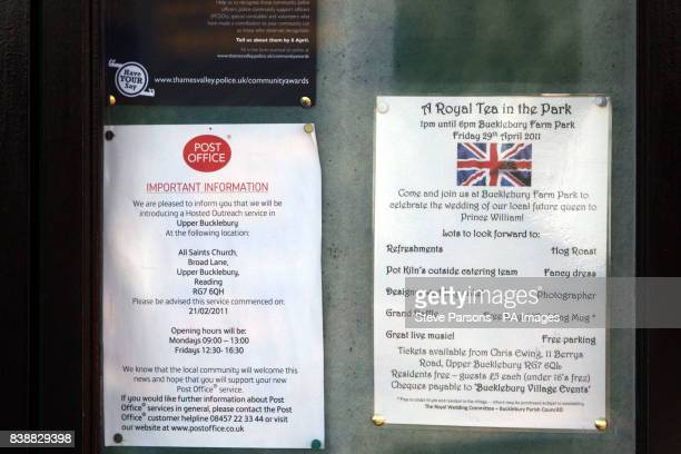 Signs for A Royal Tea in the Park at Buckleberry Farm Park in Upper Bucklebury West Berkshire