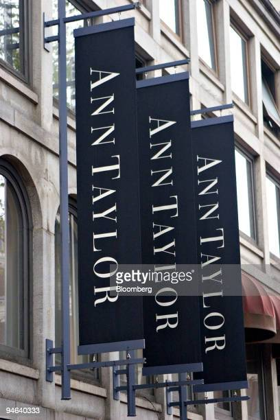 Signs hang outside an Ann Taylor store in Boston Massachusetts Friday May 19 2006 AnnTaylor Stores Corp the women's clothing retailer said...