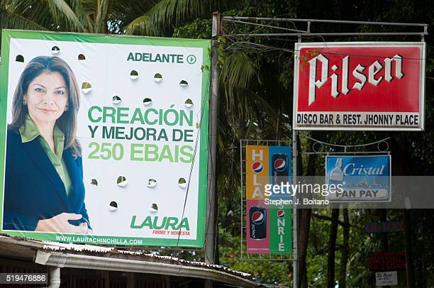 Signs in Puerto Viejo Costa Rica.