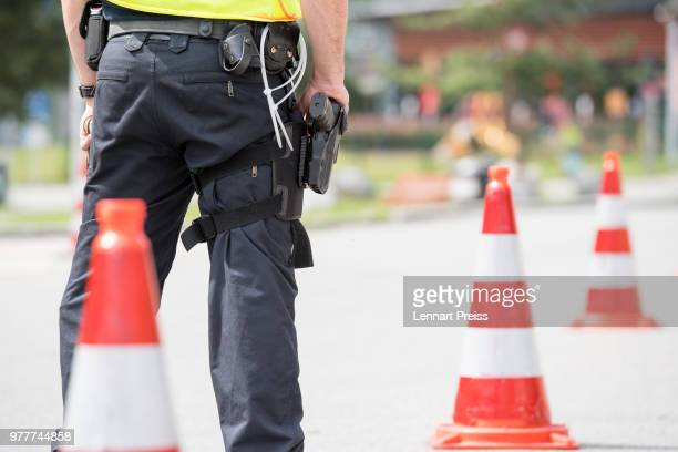 Signs marking the German border are seen on June 18 2018 near Windshausen Germany Two of the three parties in German's governing coalition the German...