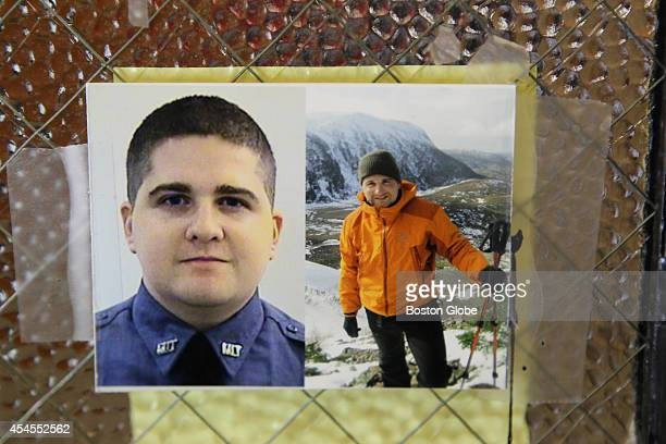 Signs of slain MIT police officer Sean Collier are all over campus including photos taped to the office of School of Engineering's door where Kris...