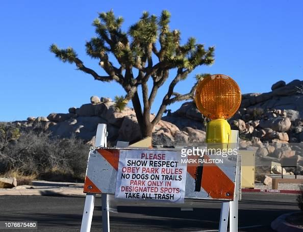 Signs Placed By Staff At A Closed Campground In The Joshua