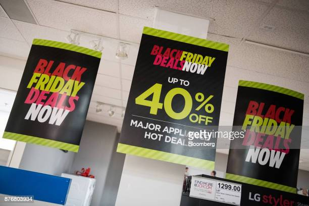 Signs That Read Black Friday Deals Now Hang On Display In The Home Liance