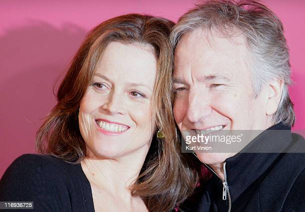 Sigourney Weaver and Alan Rickman during 56th Berlinale International Film Festival 'Snow Cake' Photocall in Berlin Germany