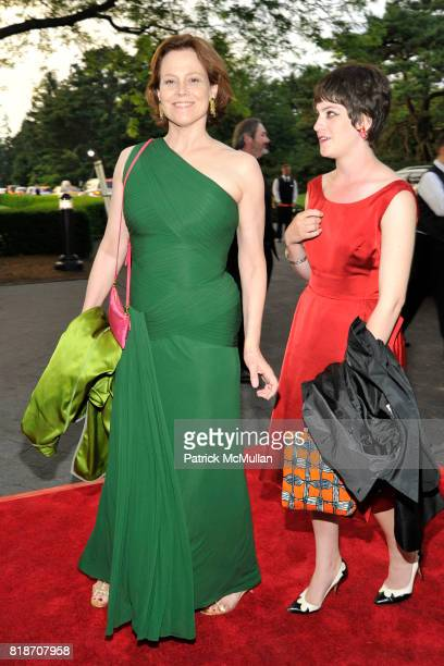 Sigourney Weaver and Charlotte Simpson attend THE CONSERVATORY BALL at The New York Botanical Garden on June 3 2010 in New York City