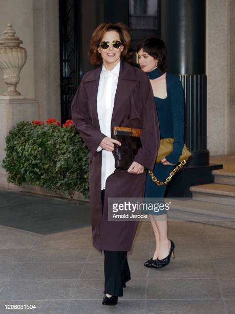 Sigourney Weaver and daughter Charlotte Simpson are seen during Milan Fashion Week Fall/Winter 20202021 on February 22 2020 in Milan Italy