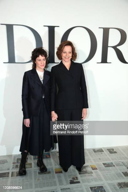 Sigourney Weaver and her daughter Charlotte Simpson attend the Dior show as part of the Paris Fashion Week Womenswear Fall/Winter 2020/2021 on...