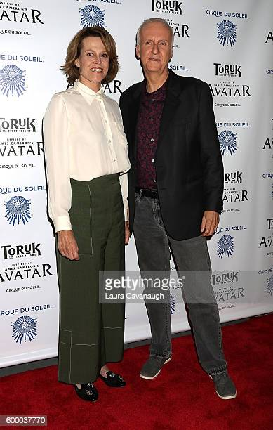 Sigourney Weaver and James Cameron attend Cirque Du Soleil's 'Toruk' New York Premeire at Barclays Center on September 7 2016 in New York City