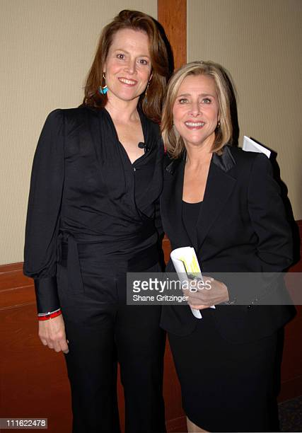 Sigourney Weaver and Meredith Vieira during Human Rights First Award Dinner to Honor Cuban and Indonesian Rights Activists at Chelsea Piers Pier 60...