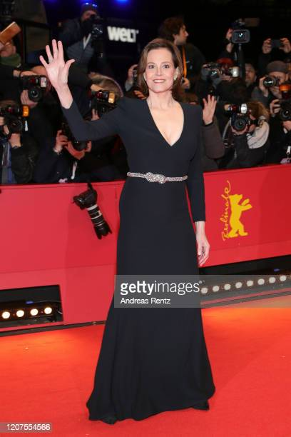 "Sigourney Weaver arrives for the opening ceremony and ""My Salinger Year"" premiere during the 70th Berlinale International Film Festival Berlin at..."