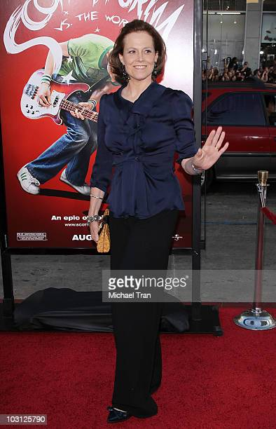 """Sigourney Weaver arrives to the Los Angeles premiere of """"Scott Pilgrim VS. The World"""" held at Grauman's Chinese Theatre on July 27, 2010 in..."""