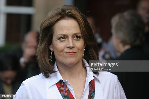 Sigourney Weaver arriving at the Dominion Cinema in Edinburgh for the premiere of her latest film Snow Cake directed by Marc Evans and costarring...