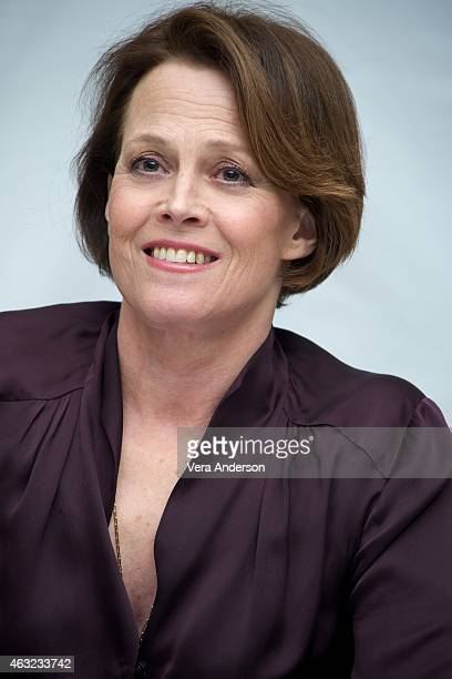 Sigourney Weaver at the 'Chappie' Press Conference at the Crosby Hotel on February 10 2015 in New York City