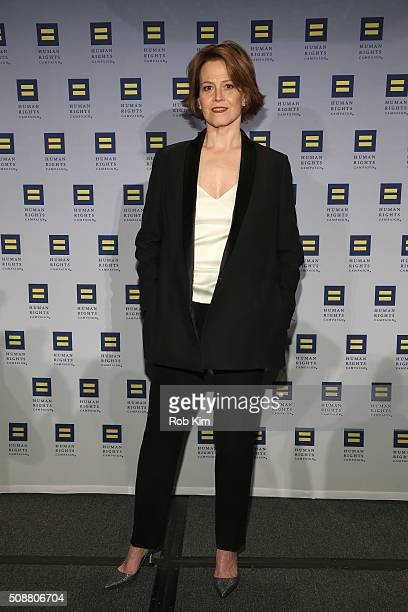 Sigourney Weaver attends 2016 Human Rights Campaign New York Gala Dinner at The Waldorf=Astoria on February 6 2016 in New York City