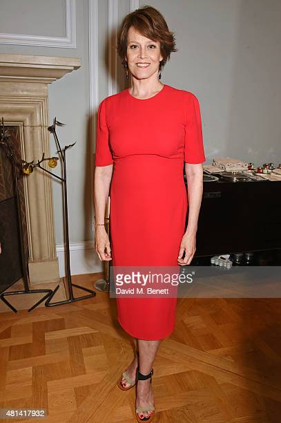 Sigourney Weaver attends a celebration of Brazilian ballet dancer Marcelo Gomes hosted by Sigourney Weaver Ali Wambold and Monica GS Wambold at the...