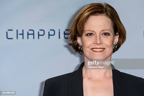 Sigourney Weaver attends a fan event for the film 'CHAPPIE' at Mall of Berlin on February 27, 2015 in Berlin, Germany.