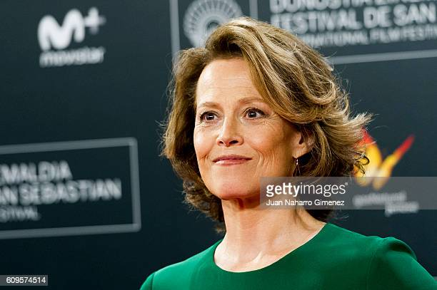 Sigourney Weaver attends 'A Monster Calls' premiere during 64th San sebastian Film Festival at Kursaal on September 21 2016 in San Sebastian Spain