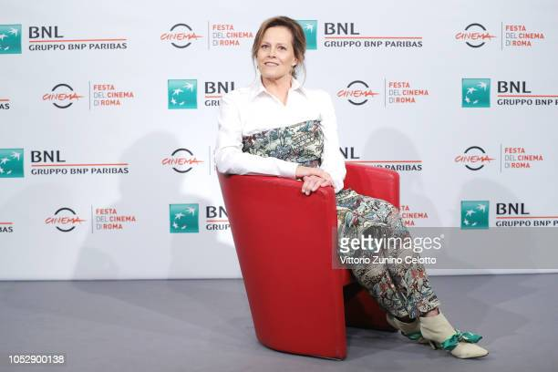 Sigourney Weaver attends a photocall during the 13th Rome Film Fest at Auditorium Parco Della Musica on October 24 2018 in Rome Italy