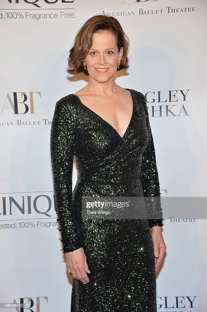 Sigourney Weaver attends American Ballet Theatre 2013 Opening Night Fall gala at David Koch Theatre at Lincoln Center on October 30, 2013 in New York City.