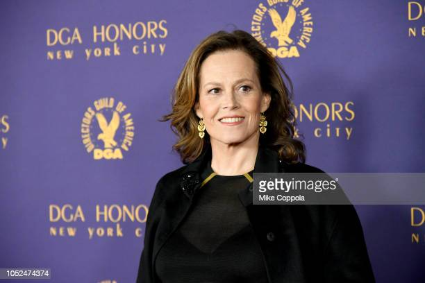 Sigourney Weaver attends the 2018 DGA Honors at DGA Theater on October 18, 2018 in New York City.