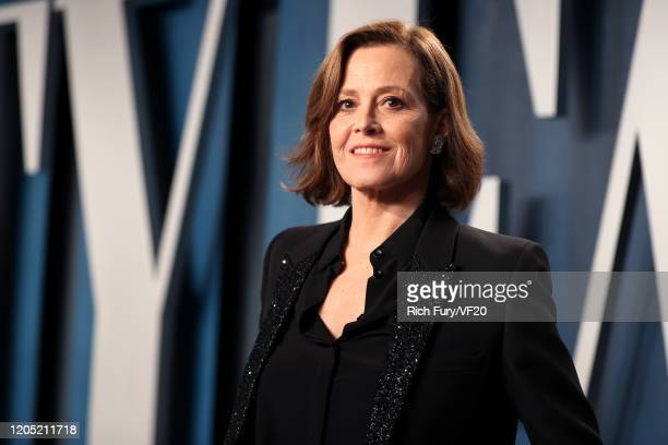 Sigourney Weaver attends the 2020 Vanity Fair Oscar Party hosted by Radhika Jones at Wallis Annenberg Center for the Performing Arts on February 09,...