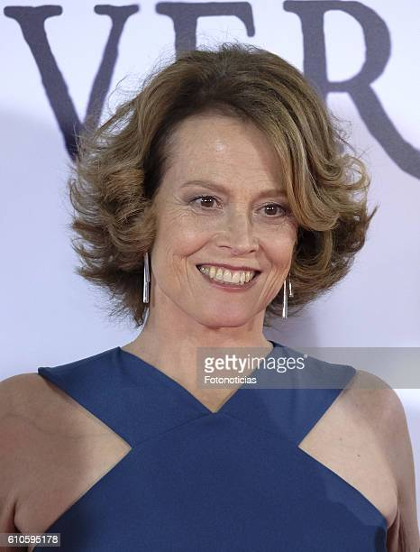 Sigourney Weaver attends the 'A Monster Calls' premiere at The Royal Theatre on September 26 2016 in Madrid Spain