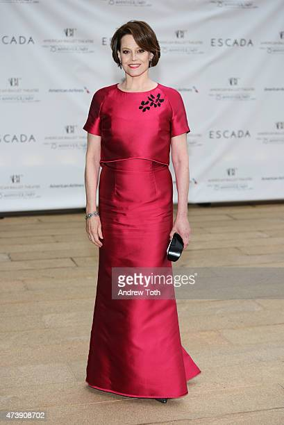 Sigourney Weaver attends the American Ballet Theatre's 75th Anniversary Diamond Jubilee Spring Gala at The Metropolitan Opera House on May 18 2015 in...