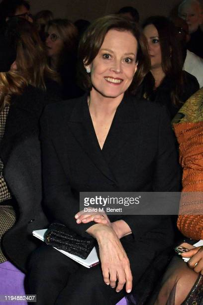 Sigourney Weaver attends the Dior Haute Couture Spring/Summer 2020 show as part of Paris Fashion Week at Musee Rodin on January 20 2020 in Paris...