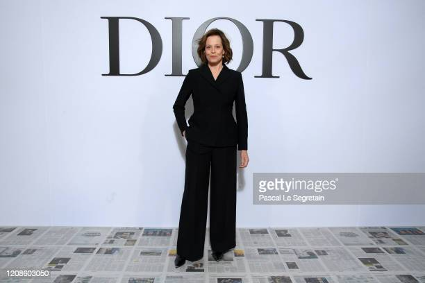 Sigourney Weaver attends the Dior show as part of the Paris Fashion Week Womenswear Fall/Winter 2020/2021 on February 25, 2020 in Paris, France.